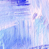 Background of detail of blue acrylic painting. Abstract blue acrylic hand paint background. Part of oil painting with brush strokes. Background of detail of Stock Photo