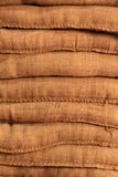 Background detail of burlap sand bags Royalty Free Stock Image
