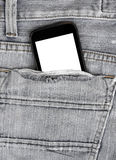 Background of detail denim Jeans with back pocket Stock Photo