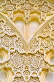 Background of detail islamic architecture. Al-hambra Moroccan palace detail architecture Stock Photos