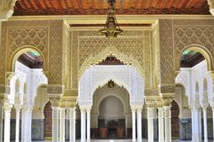 Background of detail islamic architecture. Al-hambra Moroccan palace detail architecture Royalty Free Stock Image