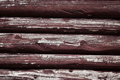 Old wooden beams with peeled color Stock Photos