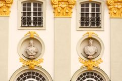 Background detail of palace. A background/texture of Nymphenburg palace in Munich, Germany Royalty Free Stock Photo