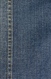 Background The details of denim. Denim blue and have seams Royalty Free Stock Photography