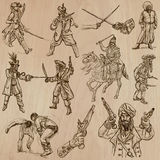 warriors - hand drawn vector pack Stock Images