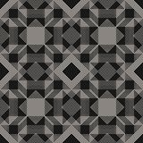 Background with diagonal stripes, squares, small elements. Monochrome urban texture. Vector geometric lines pattern. Abstract graphic background with diagonal royalty free illustration