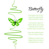 Background with diamond butterfly Stock Photos