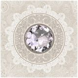 background with diamond jewel Stock Photography
