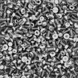 Background of different bolts and nuts Stock Image
