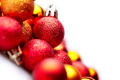 Background with different christmas ball Stock Images