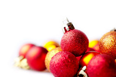 Background with different christmas bulbs Royalty Free Stock Photography