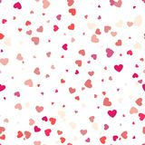 Background with different colored confetti hearts for valentine. Time. Seamless pattern Royalty Free Stock Photos