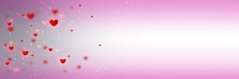 Background with different hearts Royalty Free Stock Images