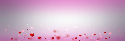 Background with different hearts Royalty Free Stock Photography