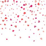Background with different colored confetti hearts for valentine. Time Stock Images