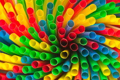 Background of different colored drinking straws Royalty Free Stock Images