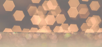 Background of different colored and light hexagons. Stock Photography