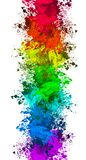 Colorful splat background. Background of different colored splats on white Stock Image