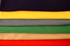 Background of different colors of fabrics Royalty Free Stock Images