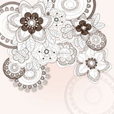 Background with different flowers Royalty Free Stock Photos