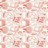 Background with different food Stock Images