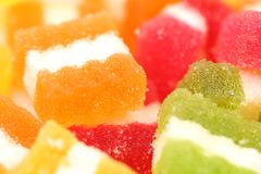 Background of different fruit-paste candies. Stock Photo
