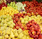 Background of different fruit and vegetables. Royalty Free Stock Image