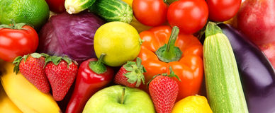 background of different fruits and vegetables Royalty Free Stock Images