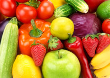 background of different fruits and vegetables royalty free stock photos