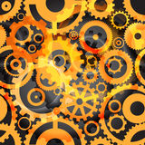 Background or different gear wheels Royalty Free Stock Photography