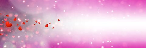 Background with different hearts Royalty Free Stock Photo