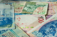 Background from different Hong Kong dollars Stock Photo