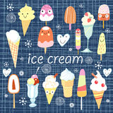 Background with a different ice cream Stock Photo