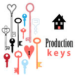 Background of different keys Stock Images