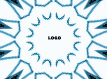 Background. Different patterns of lines stitched into a circle.In the middle it is possible to put a company logo or other. The lines on a white royalty free illustration