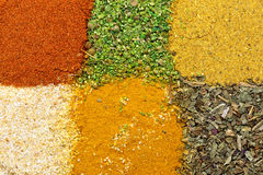Background different seasonings Stock Image