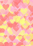 Background with different sized hearts Royalty Free Stock Photography