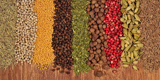 Background of different spices Stock Photo