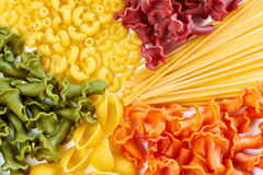 Background of different types of pasta Royalty Free Stock Images