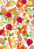 Background with different vegetables Stock Photo