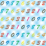 Background from digits. Stock Images