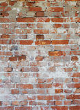 Background - dilapidated red brick wall Stock Photo