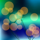 Background with dill and bokeh effect. Vector. 3 Stock Photos