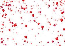 background dim heart hearts images Να πέσει άνωθεν ρομαντικά κόκκινα μόρια αγάπης Στοκ εικόνα με δικαίωμα ελεύθερης χρήσης