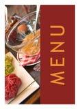 Restaurant menu layout Stock Photos