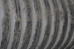 Dirty Corrugated Pipe royalty free stock photos