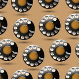 Background with disc dials Royalty Free Stock Images