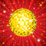 Background with disco-ball Royalty Free Stock Photography