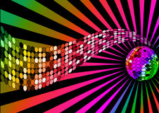 Background disco ball and wave Stock Photography