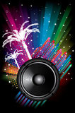 Background for Disco flyers with black Speaker Royalty Free Stock Images